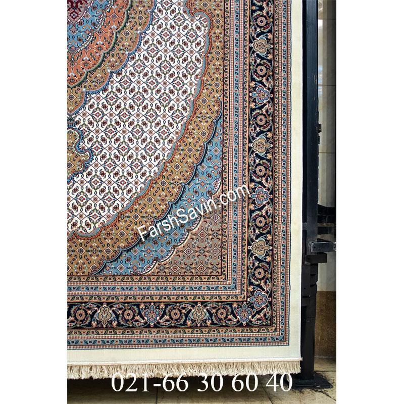 فرش ساوین 4500 کرم فرش کلاسیک