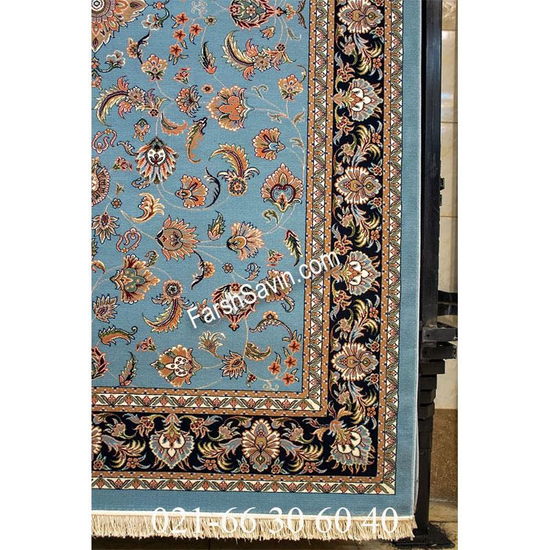 فرش ساوین 4501 آبی فرش پرفروش