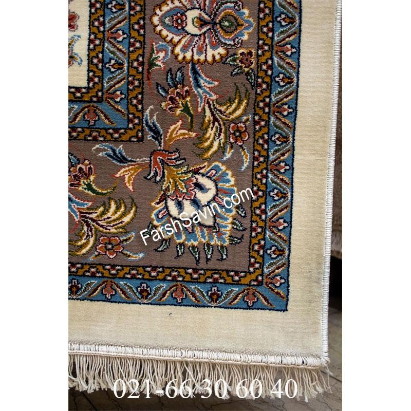 فرش ساوین 4501 کرم فرش خوش رنگ