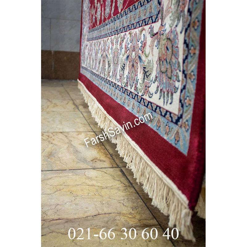 فرش ساوین 4501 لاکی فرش خوش نقش