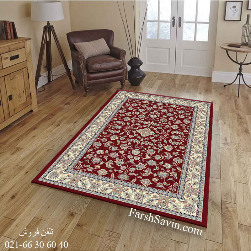فرش ساوین 4501 لاکی فرش قیمت مناسب