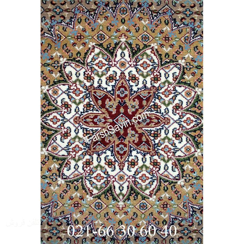فرش ساوین 4502 کرم فرش پرفروش