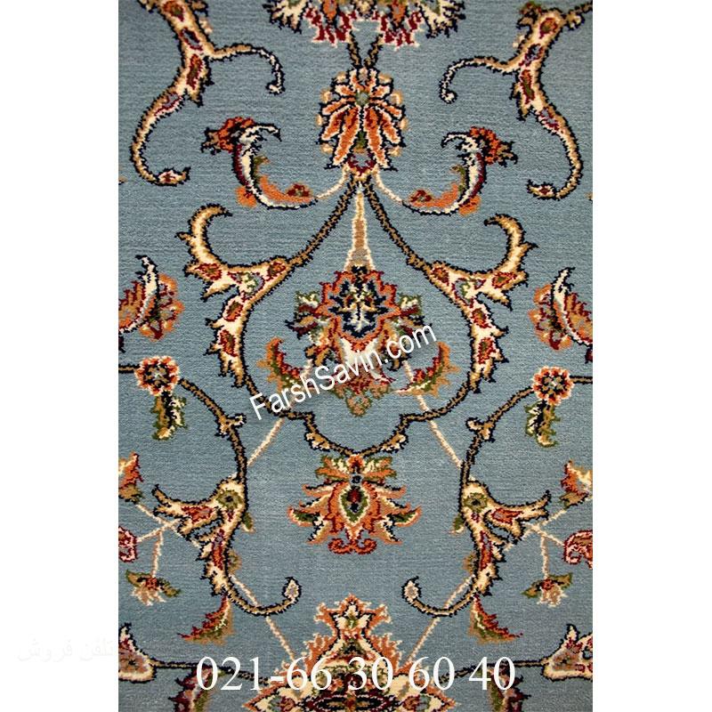 فرش ساوین 4503 آبی فرش خوش رنگ