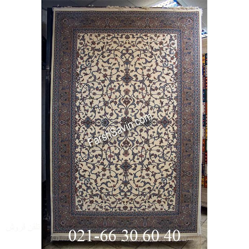 فرش ساوین 4503 کرم فرش کلاسیک