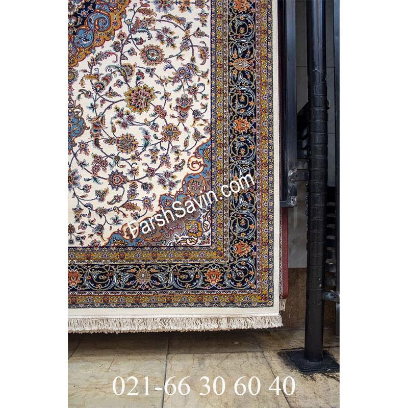 فرش ساوین 4505 کرم فرش کلاسیک