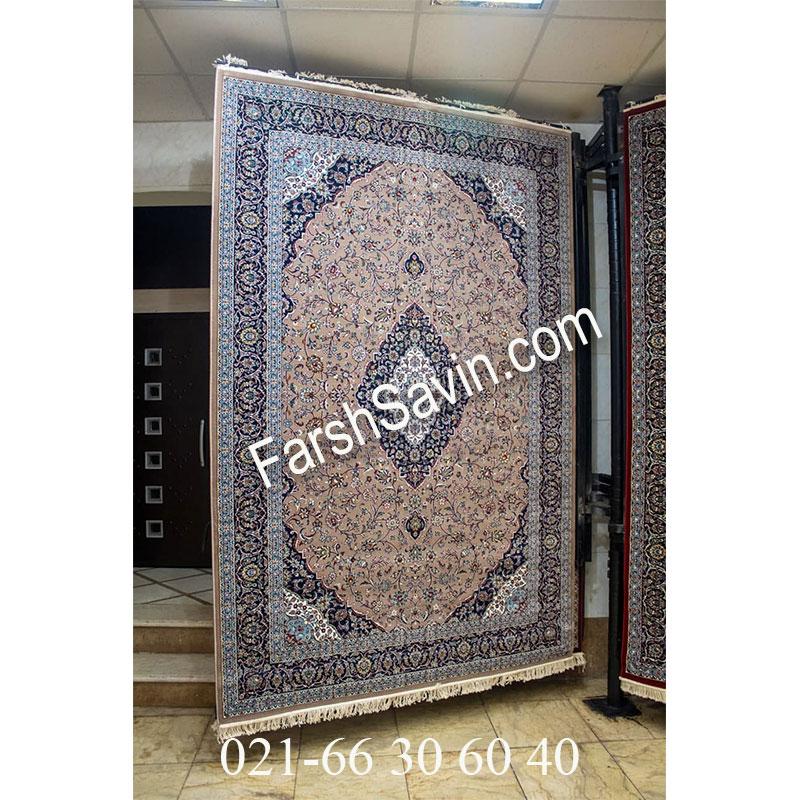 فرش ساوین 4510 شتری فرش زیبا