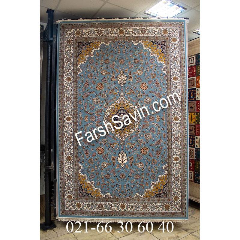 فرش ساوین 4510 آبی فرش زیبا