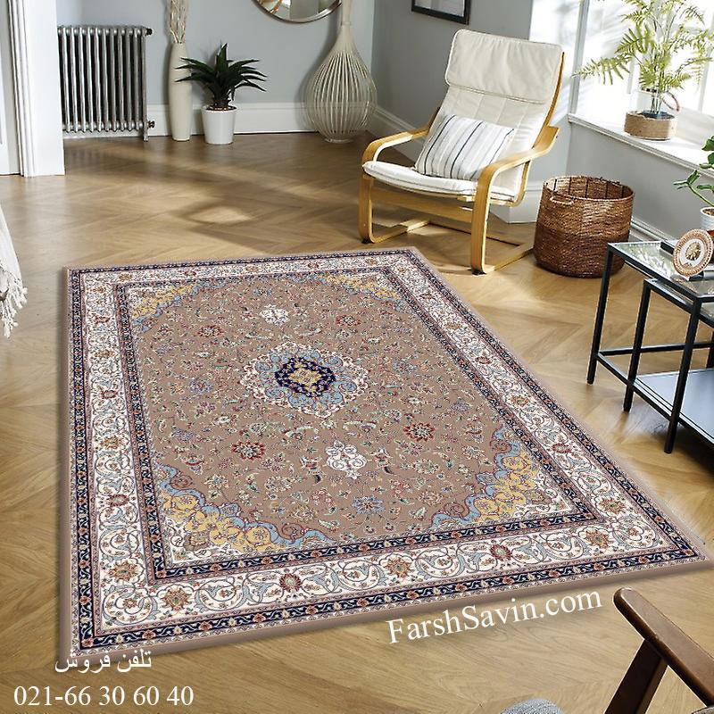 فرش ساوین 4505 شتری فرش ارزان