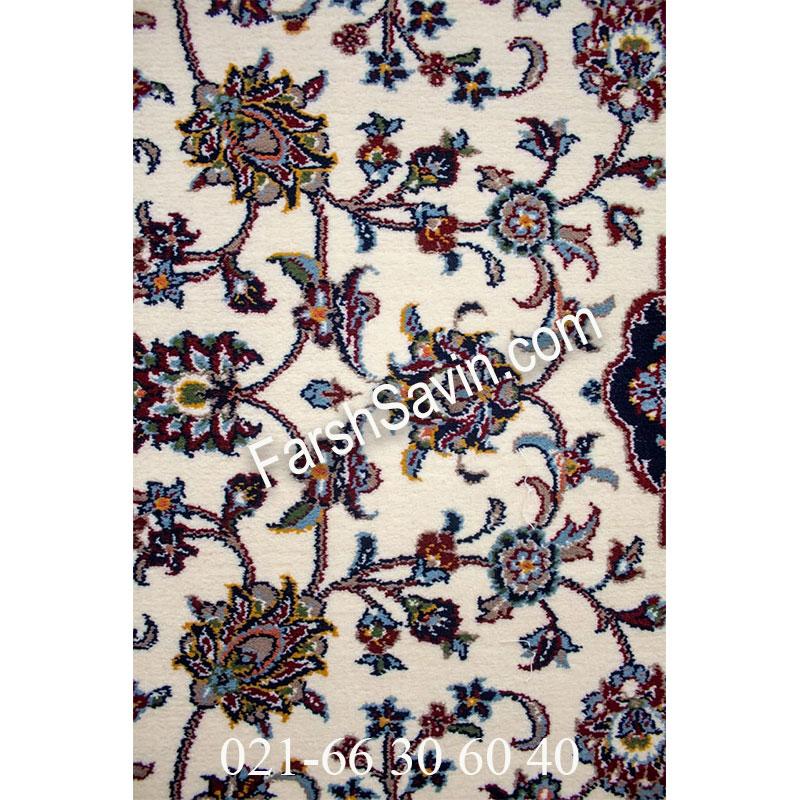 فرش ساوین 4510 کرم فرش ارزان