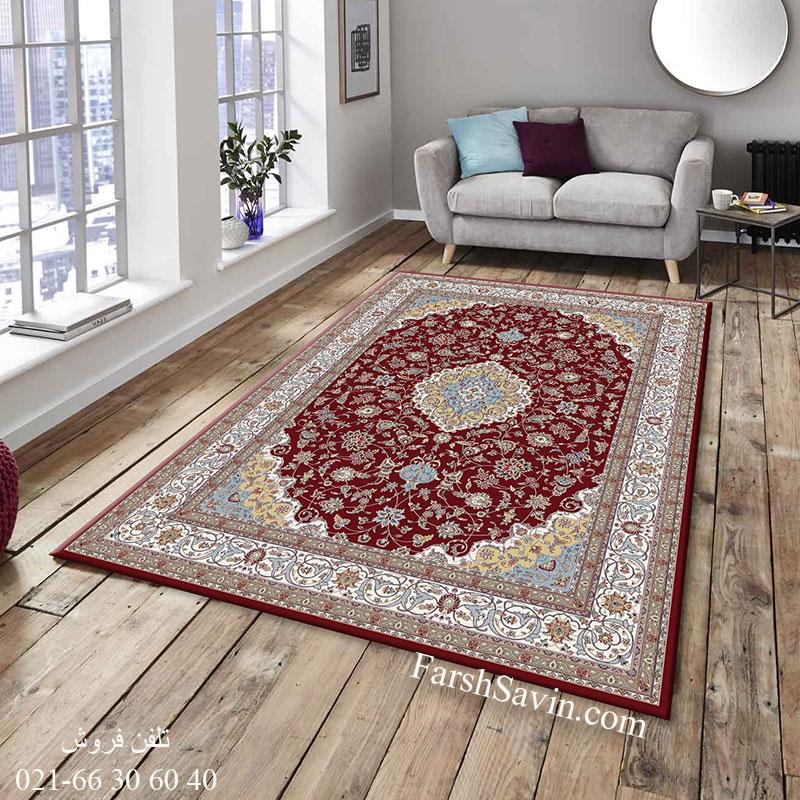 فرش ساوین 4505 لاکی فرش خاص