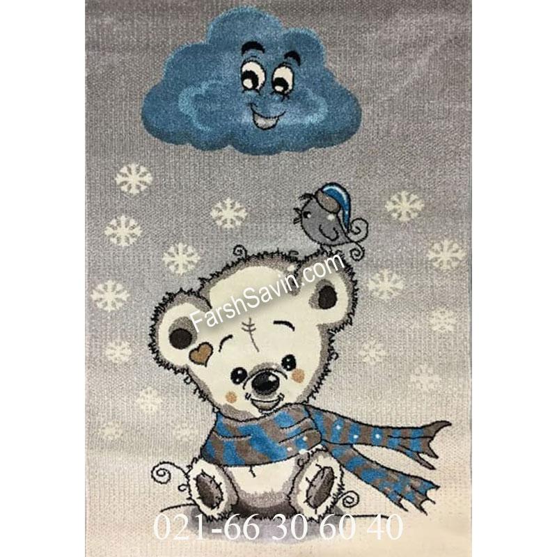 فرش ساوین خرس برفی فرش اتاق کودک