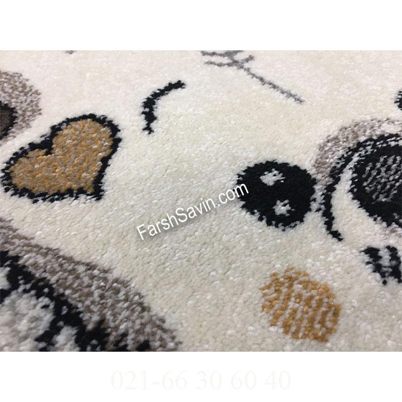 فرش ساوین خرس برفی فرش خوشگل