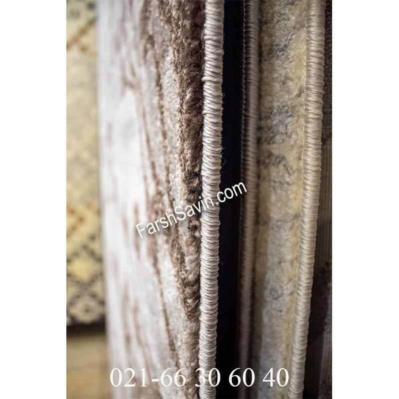 فرش ساوین 4006 نقره ای فرش خوشگل