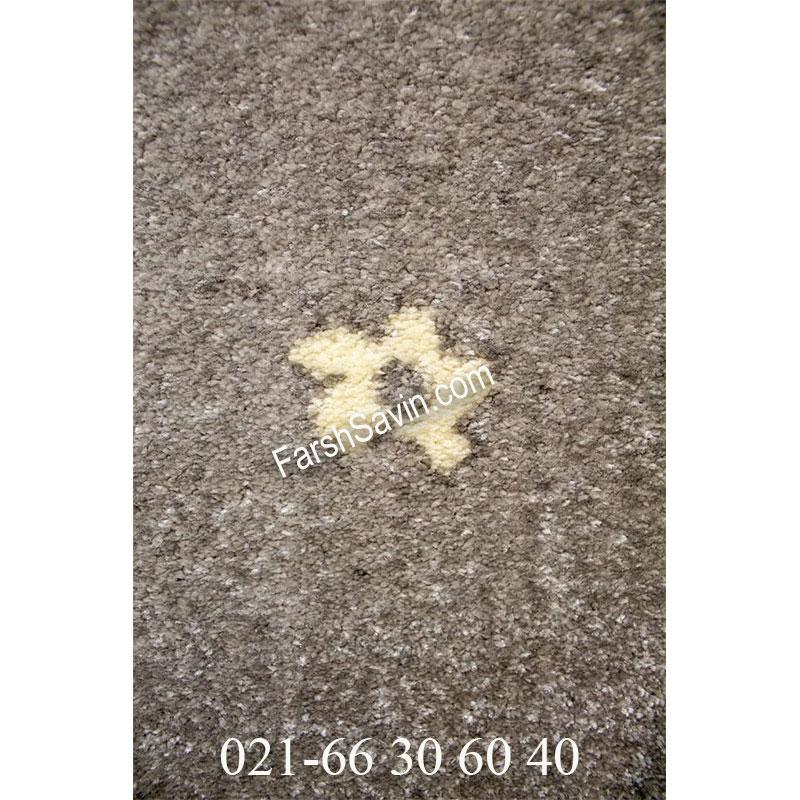 فرش ساوین 4007 نقره ای فرش اصیل