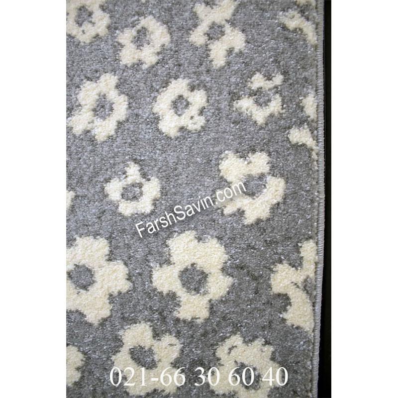 فرش ساوین 4007 نقره ای فرش پرفروش