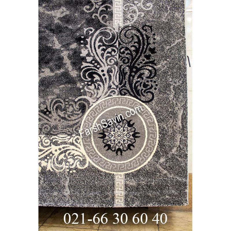 فرش ساوین 4010 مشکی فرش مدرن