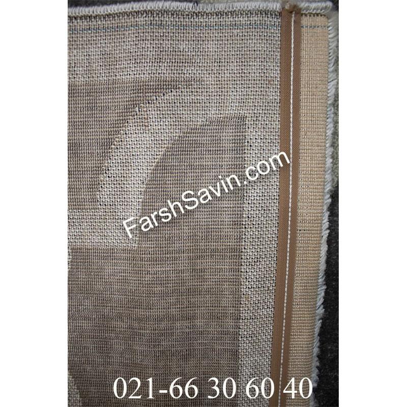 فرش ساوین 4025 طوسی فرش اتاق زیبا