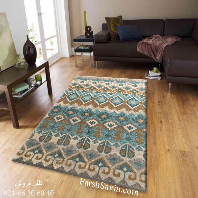 فرش ساوین 4033 کرم فرش با دوام