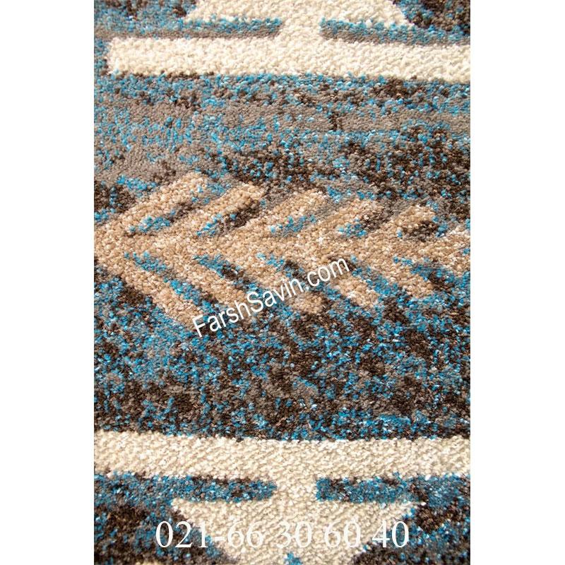 فرش ساوین 4036 آبی فرش اتاق خواب