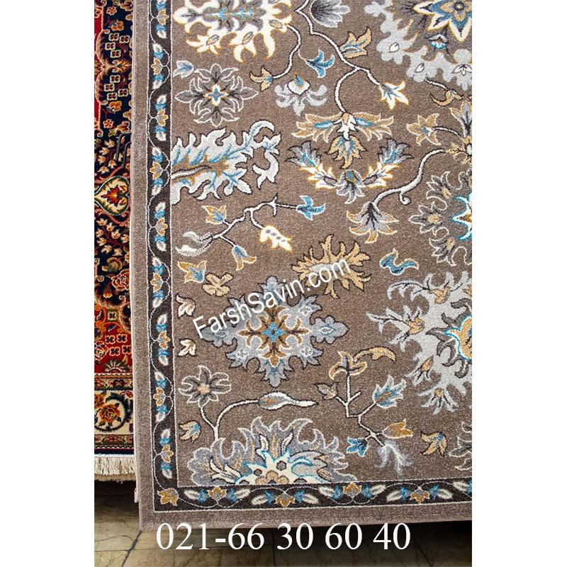 فرش ساوین 4041 شکلاتی فرش خاص