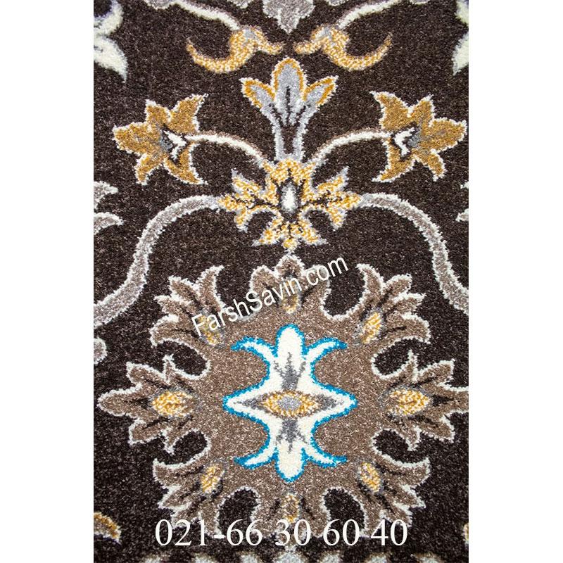 فرش ساوین 4041 نسکافه ای فرش پرفروش