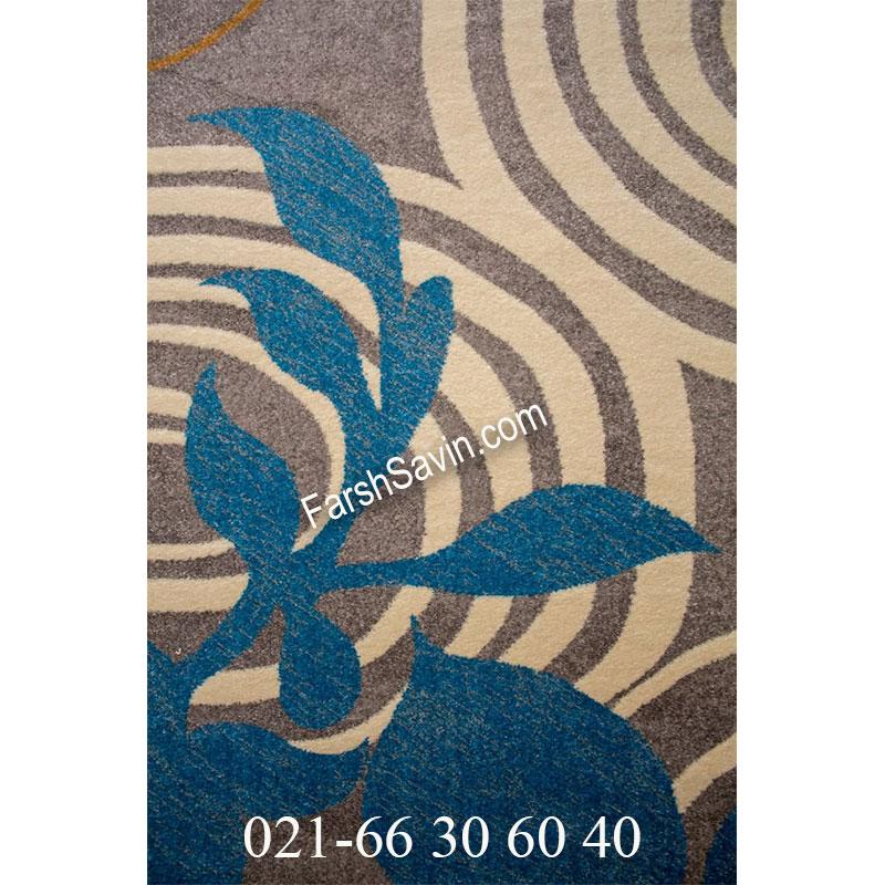 فرش ساوین 4050 نقره ای فرش زیبا