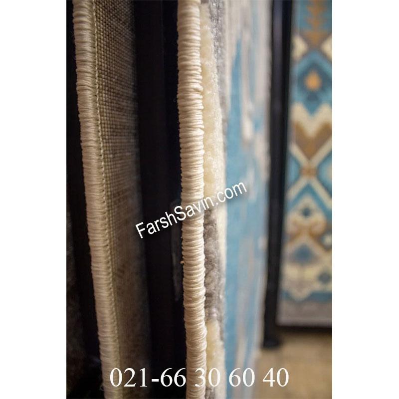 فرش ساوین 4050 نقره ای فرش فانتزی