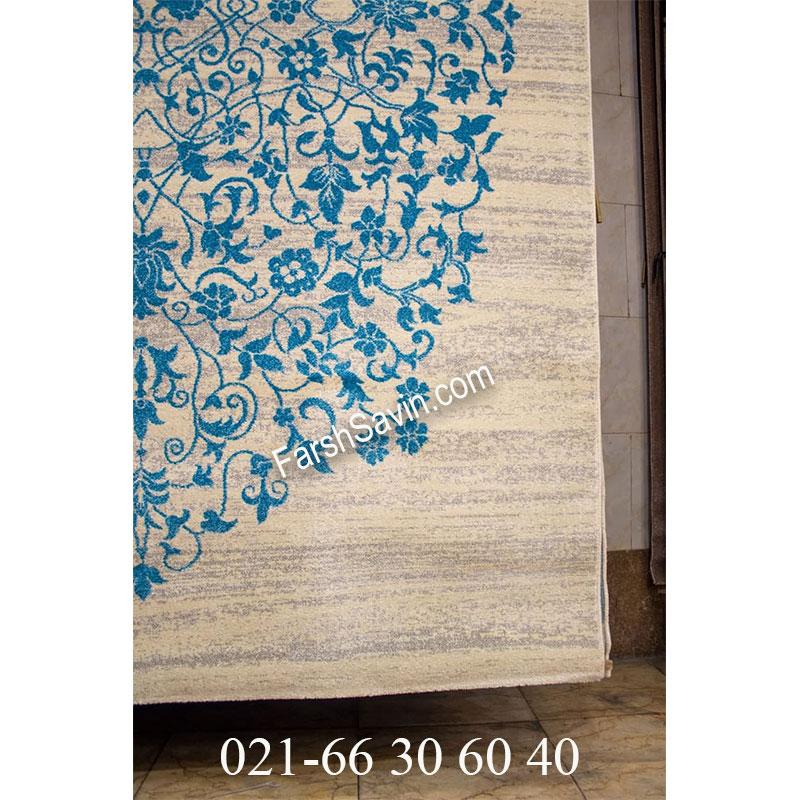 فرش ساوین 4052 کرم فرش ارزان