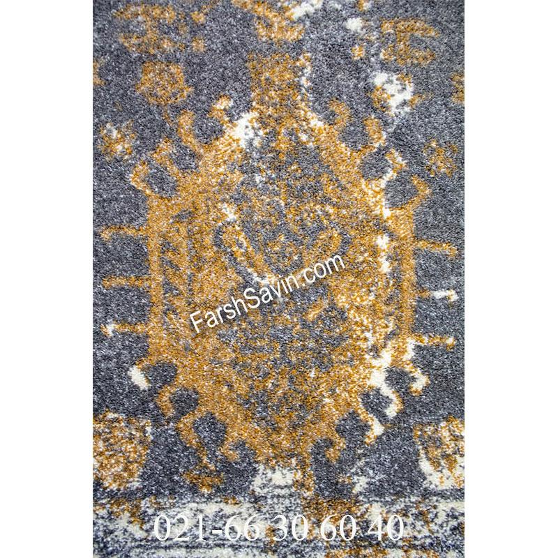 فرش ساوین 4061 طوسی فرش بی نظیر