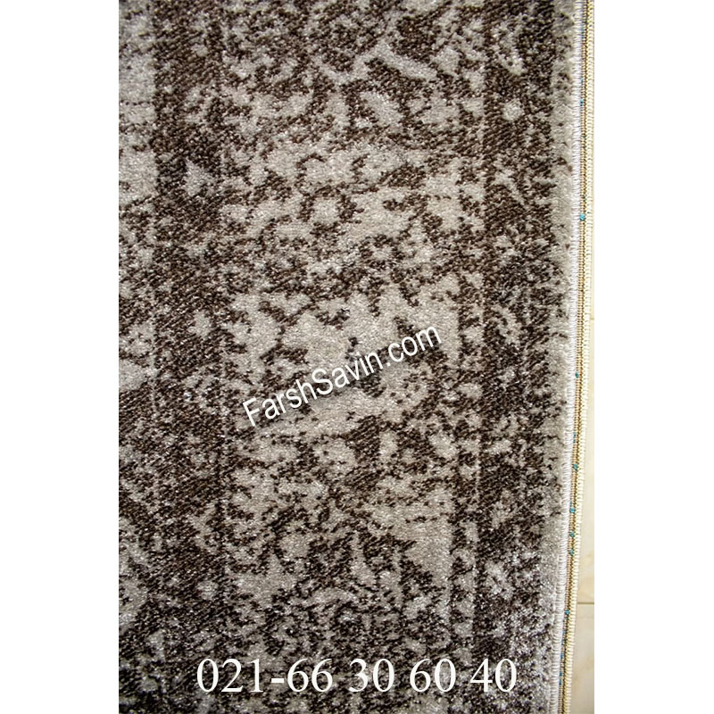 فرش ساوین 4062 نقره ای مشکی فرش پرفروش