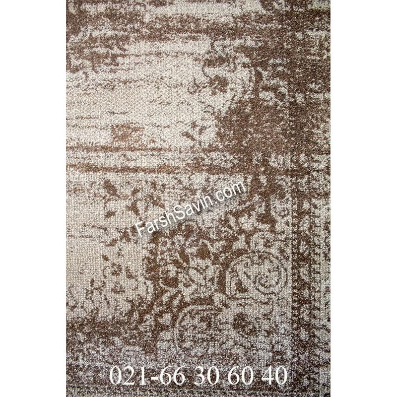 فرش ساوین 4062 نقره ای فرش اتاق خواب