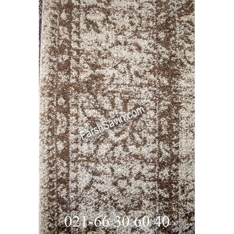 فرش ساوین 4062 نقره ای فرش سنتی