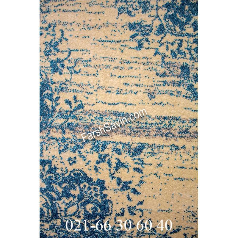 فرش ساوین 4062 کرم فرش زیبا