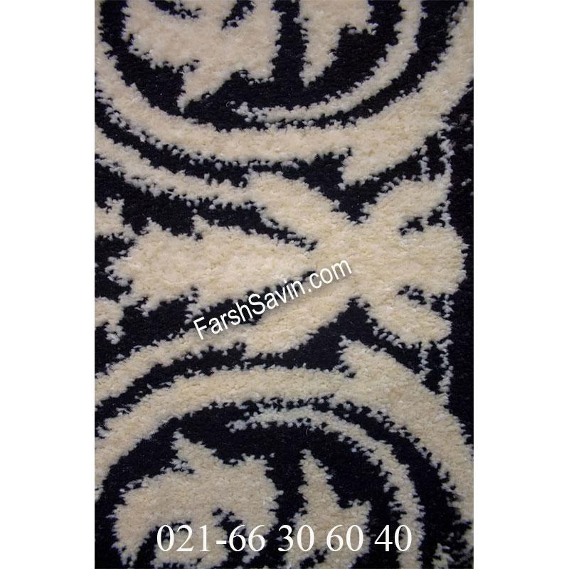 فرش ساوین 4069 مشکی فرش سنتی