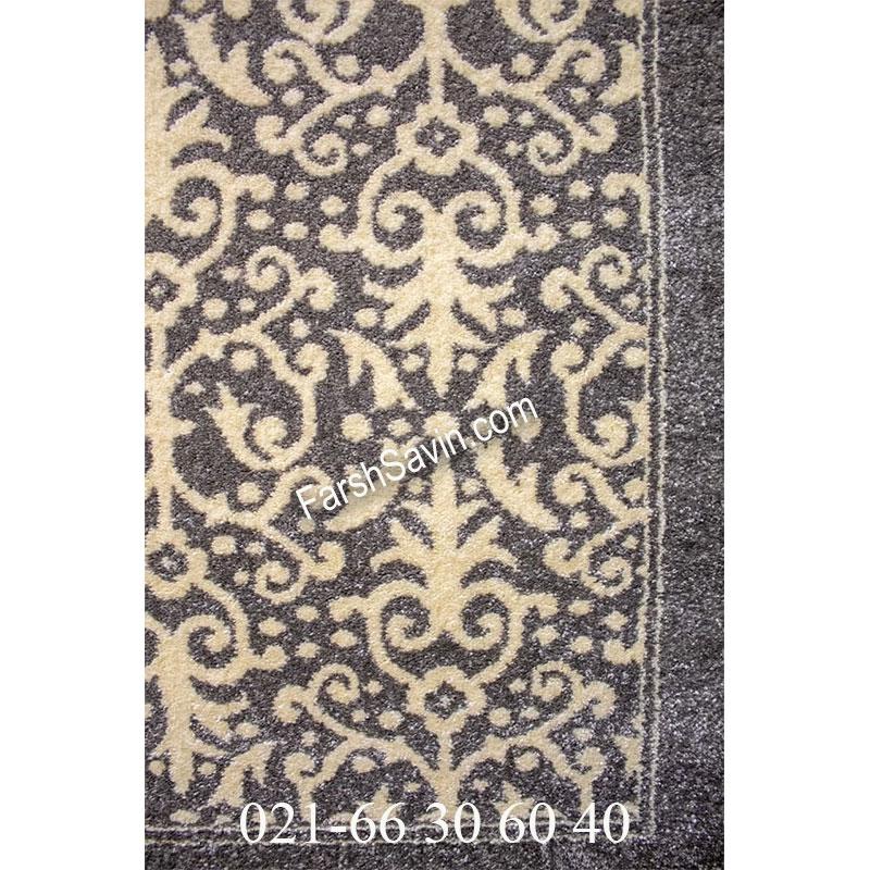 فرش ساوین 4069 طوسی فرش باکیفیت