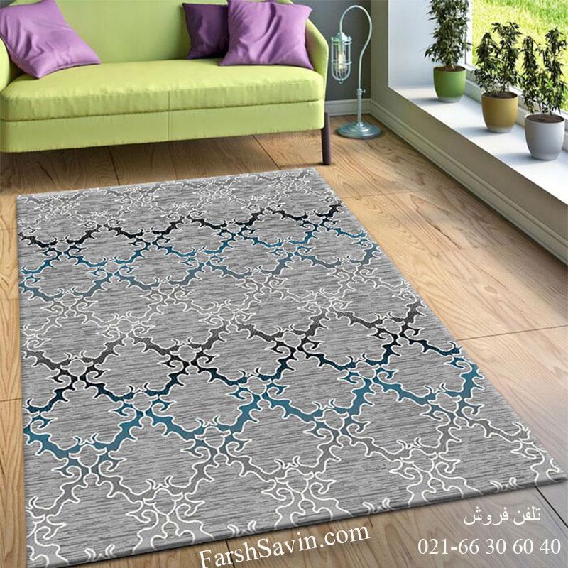 فرش ساوین 4072 طوسی فرش سنتی