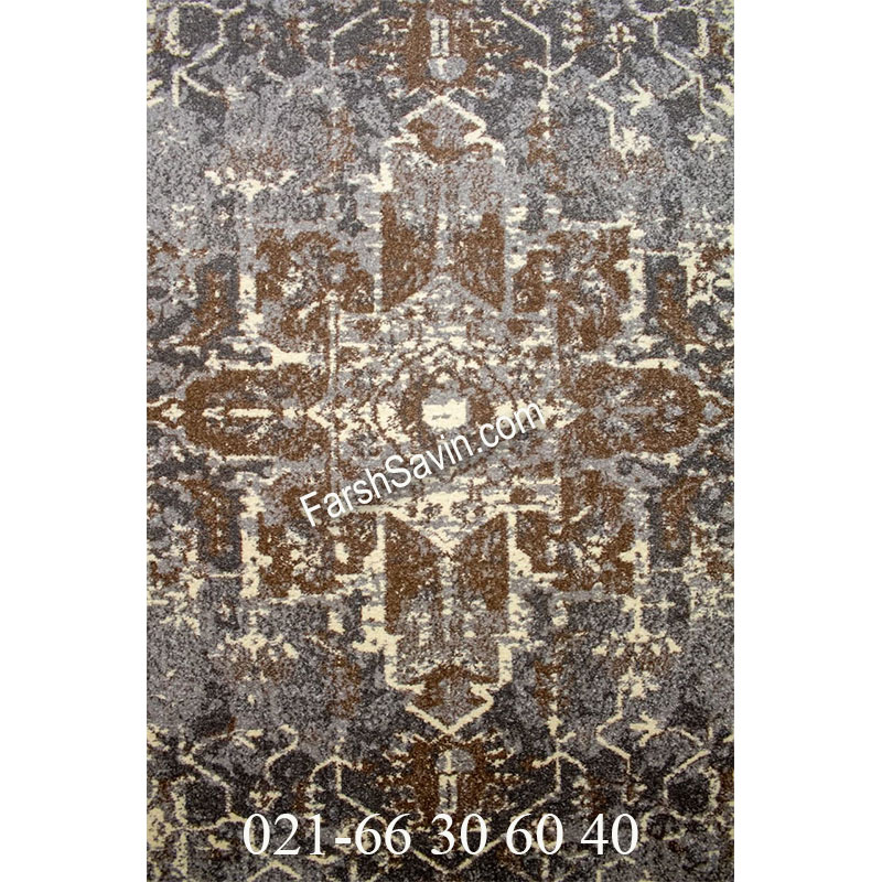 فرش ساوین 4082 نقره ای روشن فرش مدرن