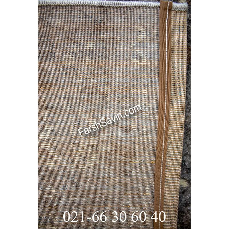 فرش ساوین 4082 نقره ای روشن فرش اتاق پذیرایی