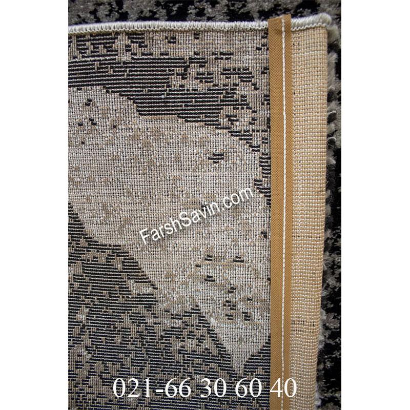 فرش ساوین 4089 مشکی فرش گبه