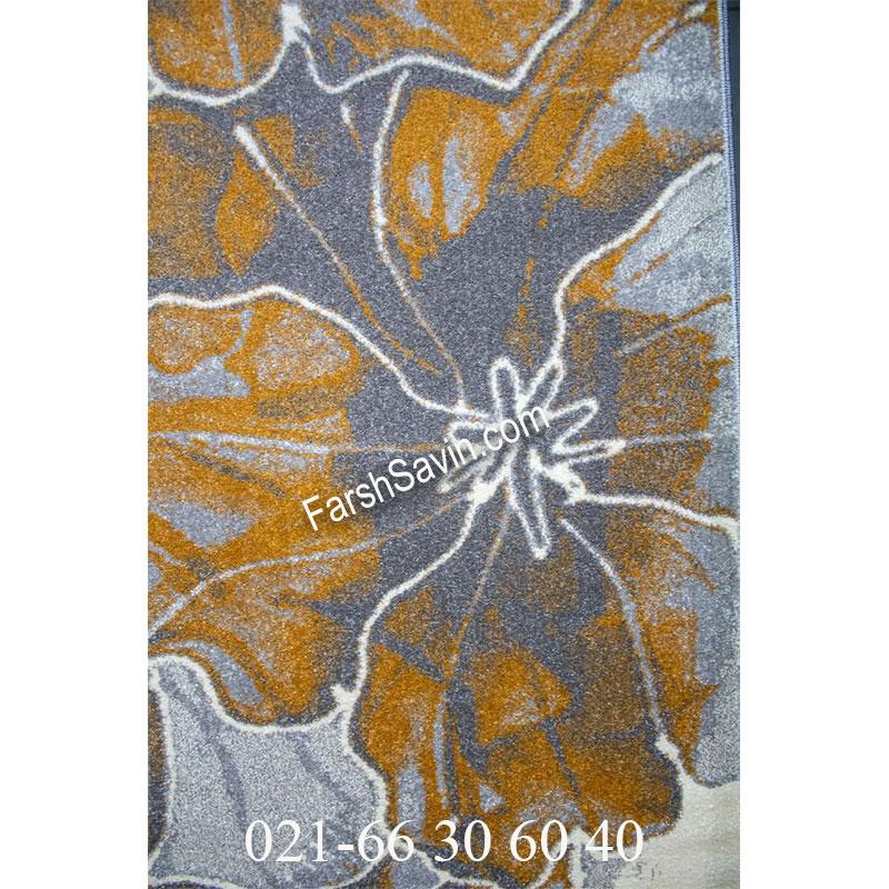 فرش ساوین 4090 عسلی فرش مدرن