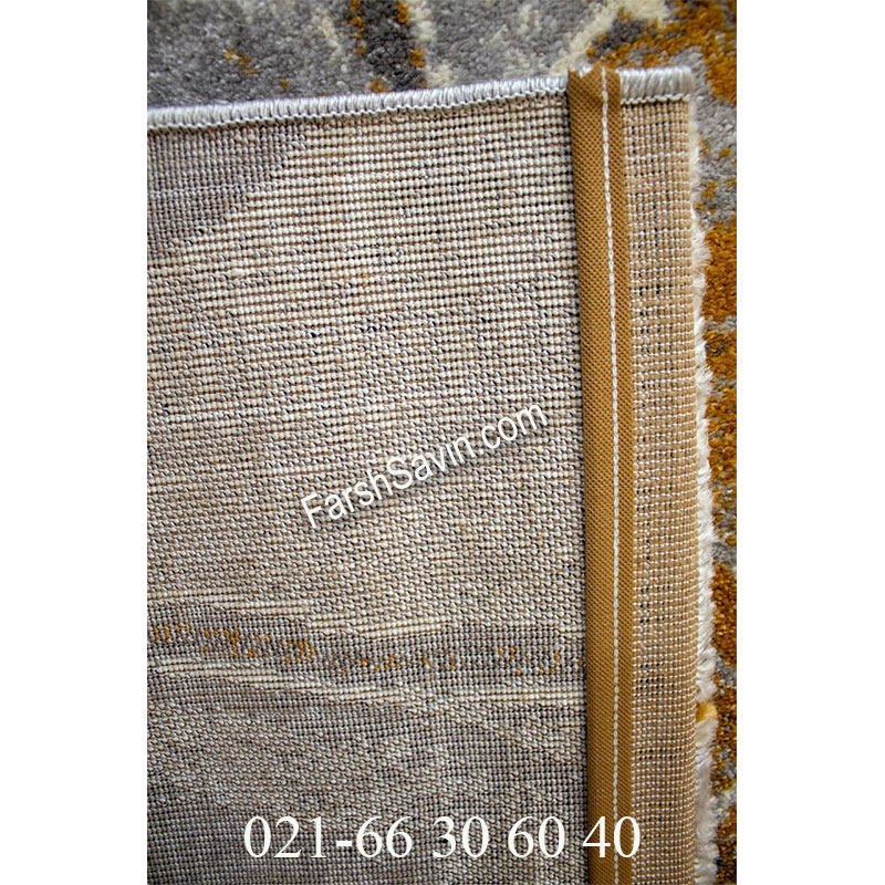 فرش ساوین 4090 عسلی فرش پرفروش