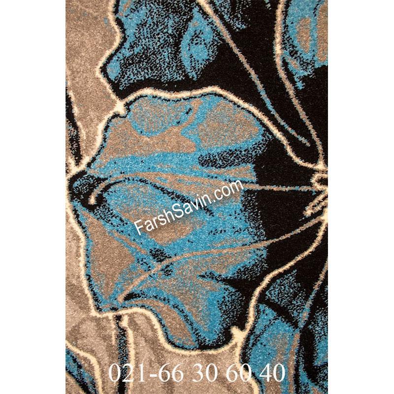 فرش ساوین 4090 آبی فرش خاص