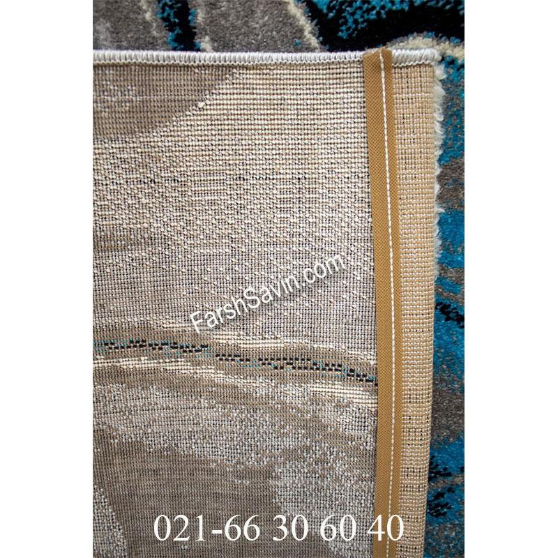 فرش ساوین 4090 آبی فرش با دوام