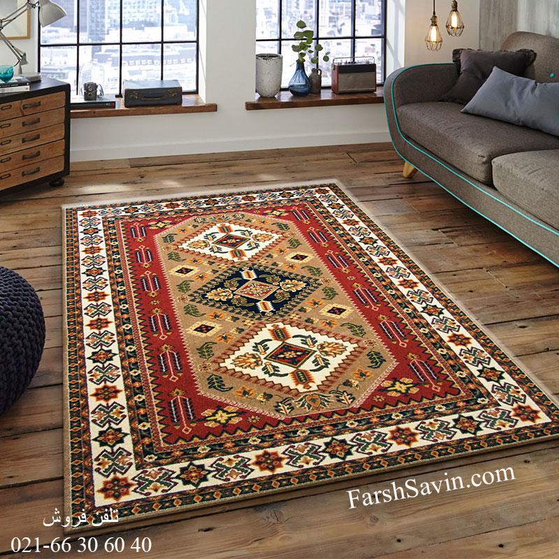 فرش ساوین آنیتا شکلاتی فرش با کیفیت