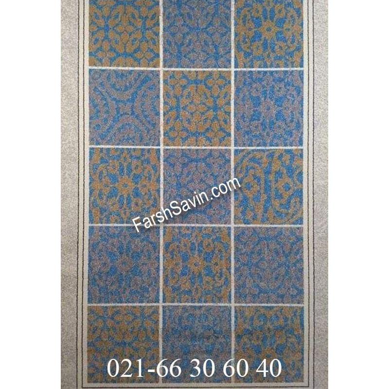 فرش ساوین آنتیک آبی فرش با کیفیت