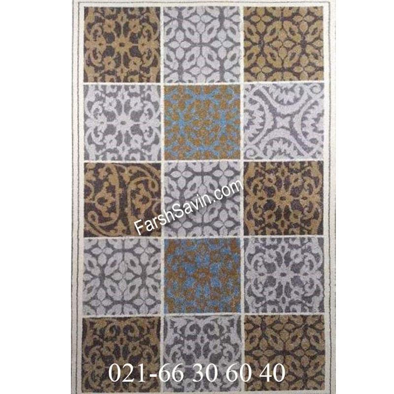 فرش ساوین آنتیک شکلاتی فرش با دوام