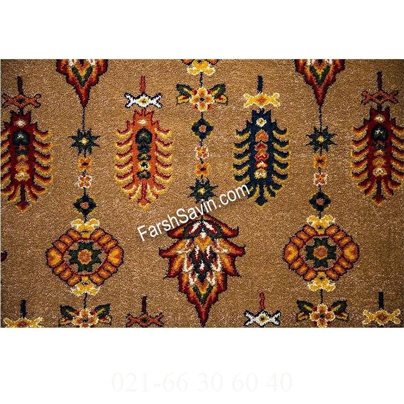 فرش ساوین سارگل شکلاتی فرش با دوام