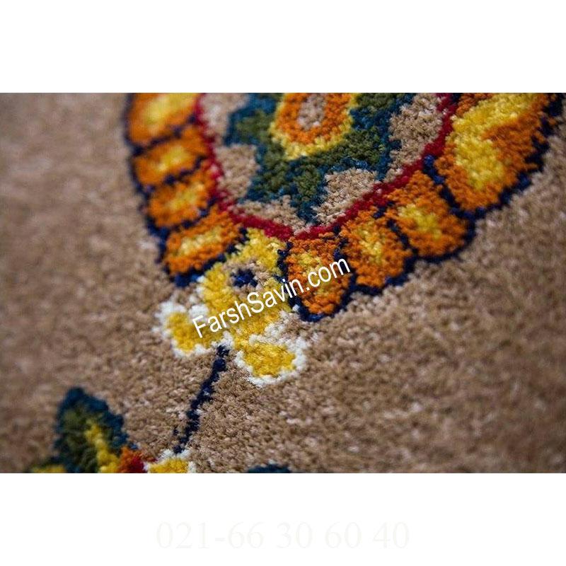 فرش ساوین سارگل شکلاتی فرش گبه