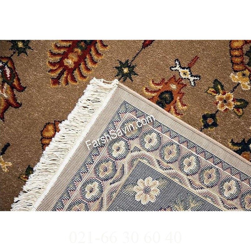 فرش ساوین سارگل شکلاتی فرش پذیرایی