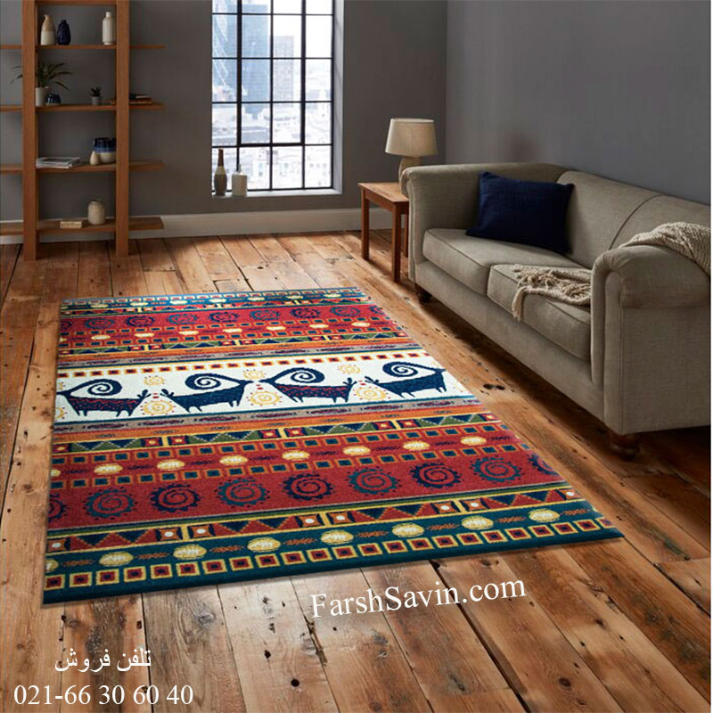 فرش ساوین شیوا لاکی فرش سنتی